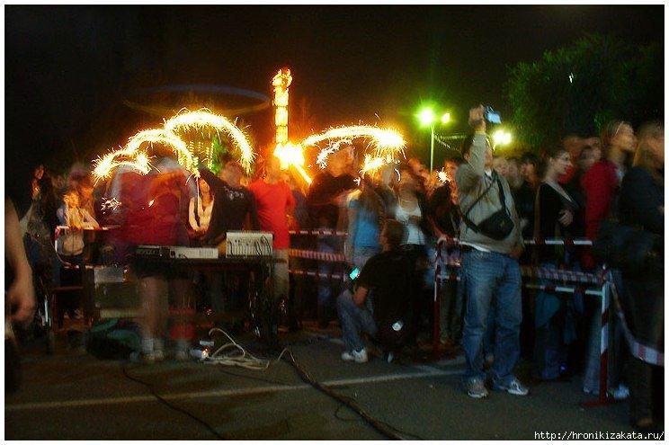 Огни с концерта памяти Виктора Цоя в Оренбурге
