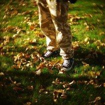 осень в Оренбурге, кеды, желтые листья