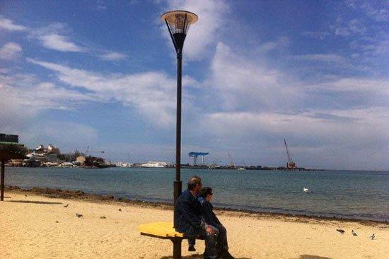 фонарь, солнце, анапа, технологии, туризм, отдых