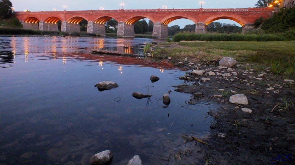 мост,вечер,вода,фотография,заходящее