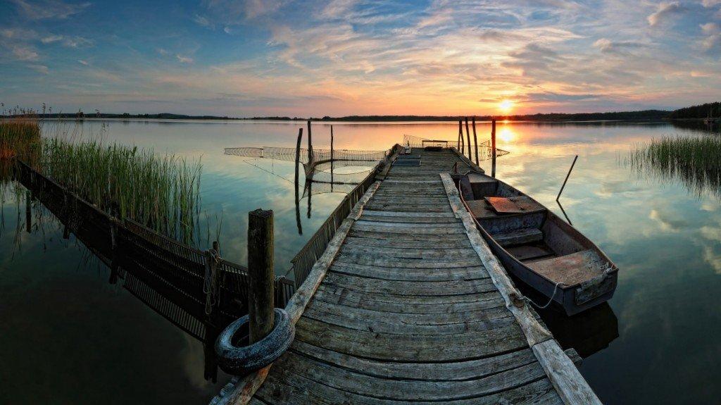 рыбацкий причал,фото,закат