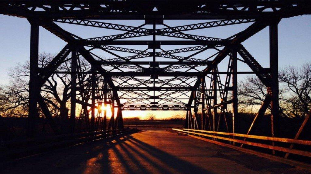 солнце,мост,закат,фото,обои
