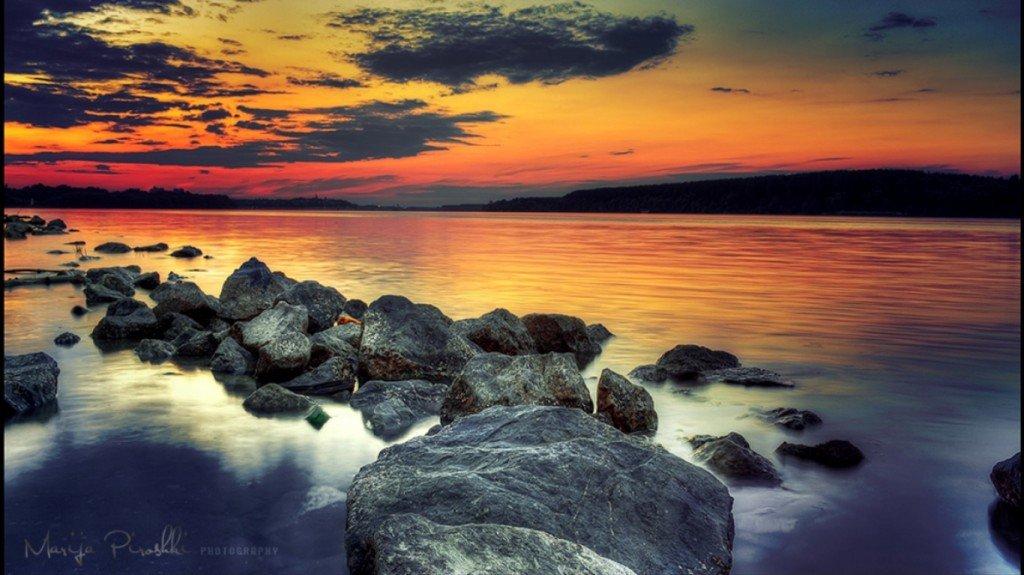 скалы,прибой,закат,обои,море,фото