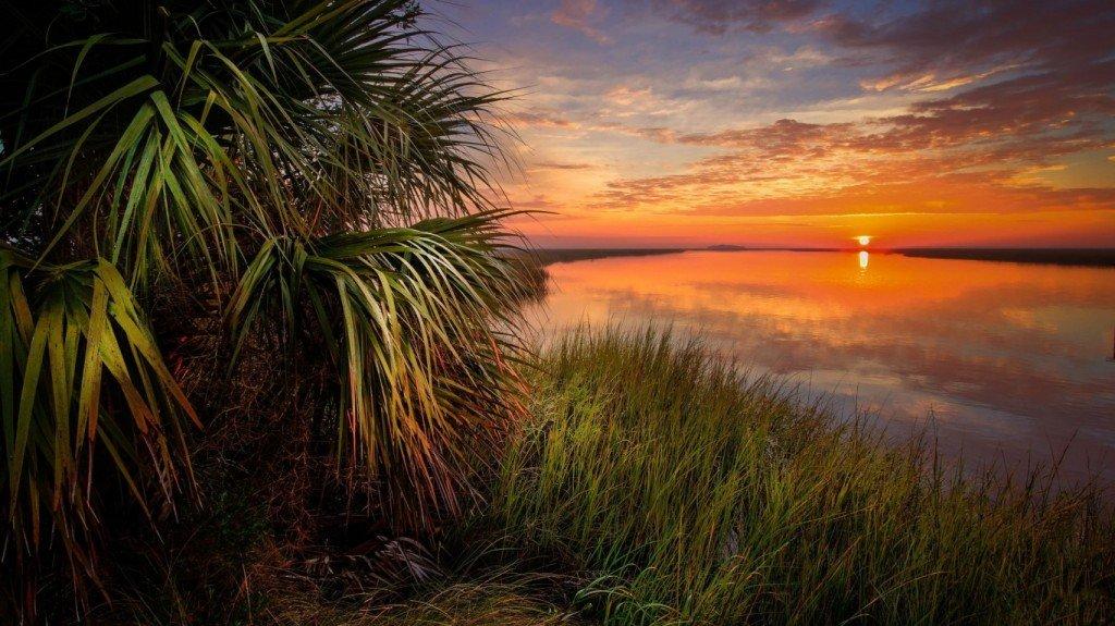 тропики,солнце,закат,море
