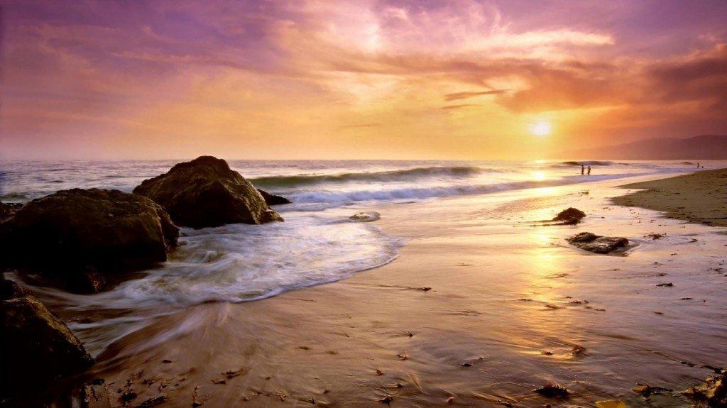 пляжи,фото,закат