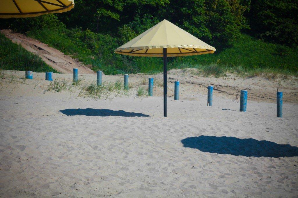 пляж,фото,янтарный,зонтики,смотреть,калининградская,область