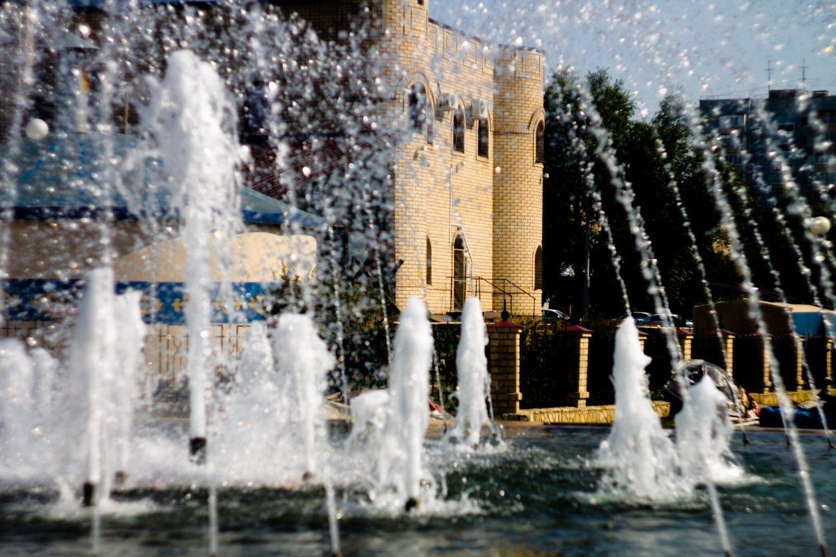 фонтан, оренбург, сентябрь, 2015